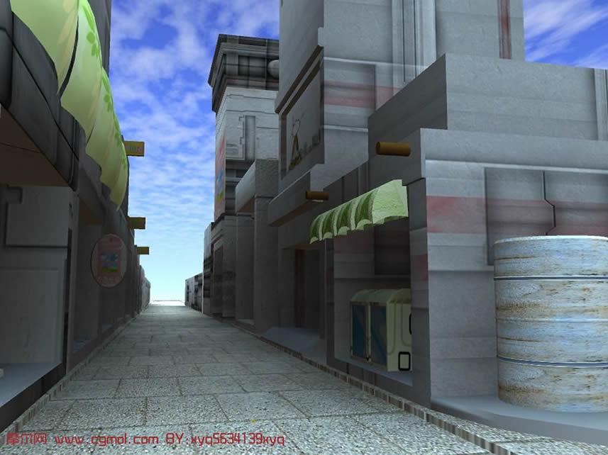 小街道场景maya模型