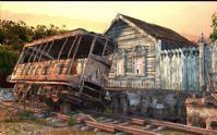 旧火车站,火车,maya场景模型