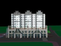 版纳风格酒店,3D建筑模型
