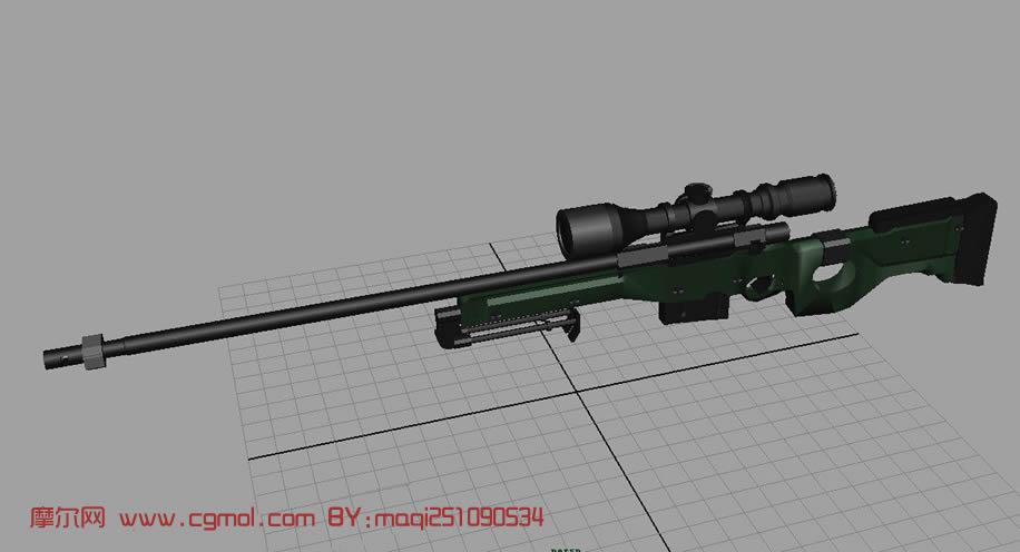 原创作品: 狙击枪3d模型