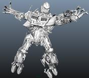 奥迪车变形后的汽车机器人maya模型