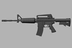 m4a步枪maya模型