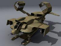 超帅的未来概念飞船3D模型