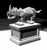 原创犀牛雕塑,maya动物模型