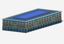 体育馆,方形建筑3D模型