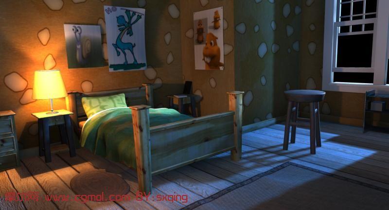 室内卡通小场景maya模型 场景 卡通 maya 模型描述 一个高清图片