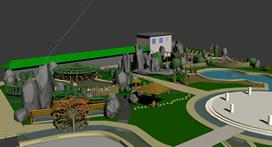 完整园林景观.度假村,度假山庄,休闲胜地3D模型