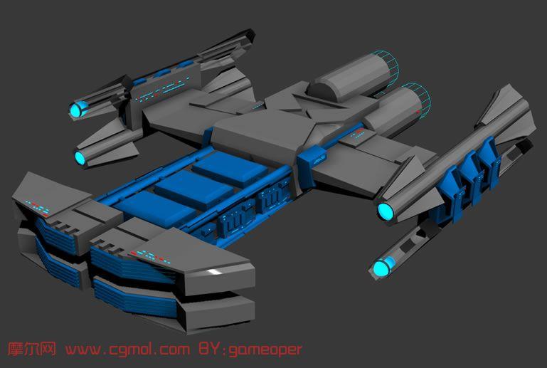 太空战舰,巡洋战舰,太空战斗巡洋舰3D模型