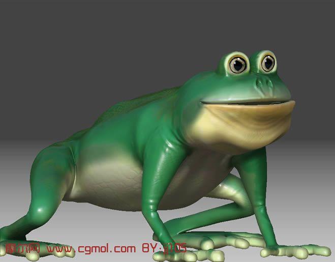 卡通青蛙maya模型,爬行动物