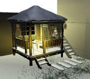 凉亭,亭子,茶亭maya模型