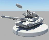装备先进的装甲坦克Maya模型