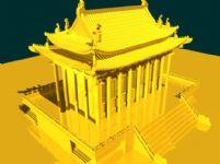 金碧辉煌的古代建筑maya模型