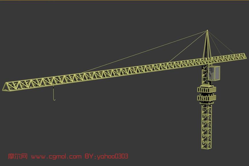 塔吊,建筑塔机3d模型