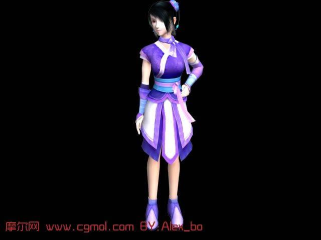 仙剑奇侠传之韩菱纱3D模型(带80帧动画)