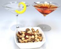 鸡尾酒,坚果,柠檬,樱桃3D模型