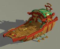 2.5D古代船只3D模型