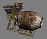 搅拌机,混凝土搅拌机,建筑器械3D模型