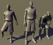 凯尔特人三巨头,保罗-皮尔斯,雷-阿伦,凯文-加内特,3D人物模型