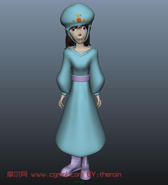 卡通人物maya模型 卡通角色 动画角色高清图片