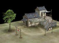 房屋,游戏场景3D模型