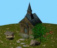 小屋外景3D模型