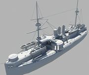 定远号,军舰,战船,战舰3D模型