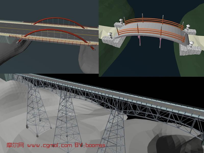 桥梁设计3D模型