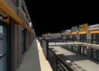 现代商业街场景3D模型