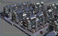 现代小区,居民区,住宅区,建筑3D模型