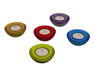 五彩蜡烛,五颜六色的蜡烛3D模型
