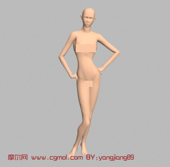 女人体3d模型
