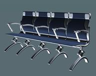 银行公共座椅3D模型