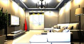 现代简装客厅设计3D模型