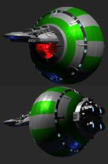 圆形飞船,太空飞船3d模型
