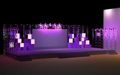 紫色的舞台设计3D模型