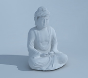 佛像,如来佛雕塑3D模型