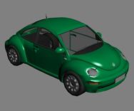 大众汽车,大众甲壳虫汽车3D模型