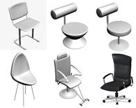 洗头椅,吧椅,椅子3D模型