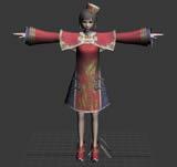真三国无双大乔3D模型