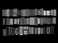 五十多款屏风,屏风隔断,家居装饰3D模型