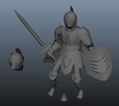 骑士,铠甲骑士3D模型