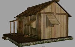 木房子,民房3D模型