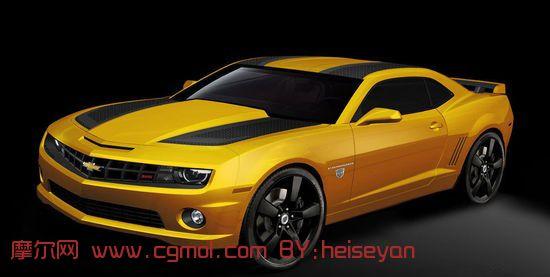 转载作品 雪佛兰,雪弗莱科迈罗,大黄蜂,3d汽车模型高清图片