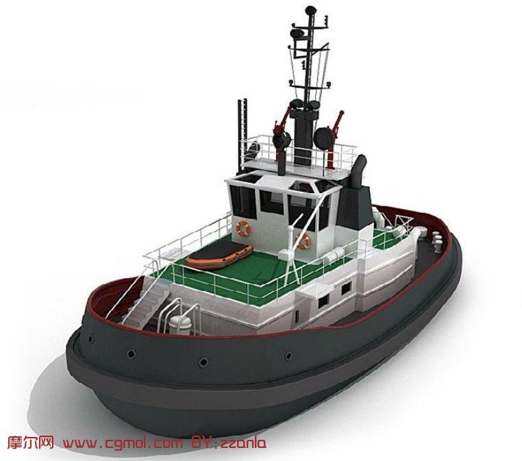 小型渔船3d模型