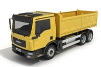 泥罐车,泥土车,运输车,货车3D模型