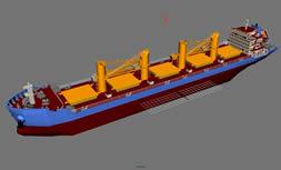 散货船,运输船,货轮3D模型