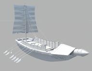 帆船,古代战舰,战船maya模型