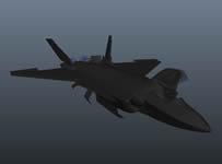 J-20战斗机,maya飞机模型