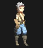 龙之谷战士动画3D模型