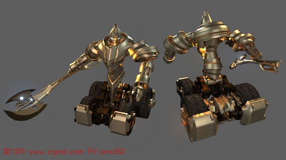合体金刚 霸气的合体机器人maya模型高清图片